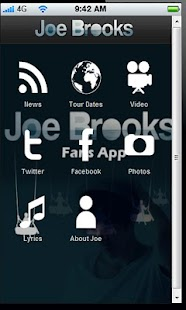 Joe Brooks Fan APP - screenshot thumbnail