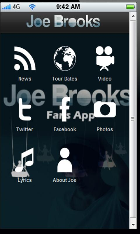 Joe Brooks Fan APP- screenshot