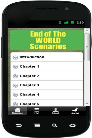 Endofthe world scenarios - screenshot