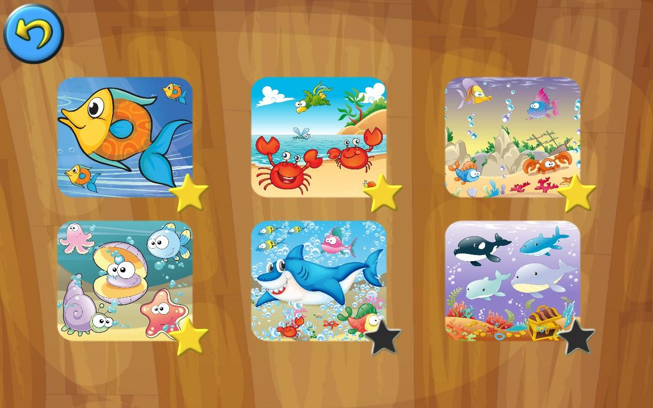 Kids Sea Animals Jigsaw Puzzle- screenshot