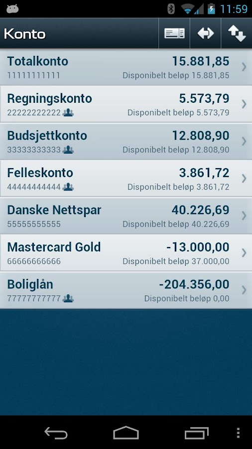 Mobilbank NO- screenshot