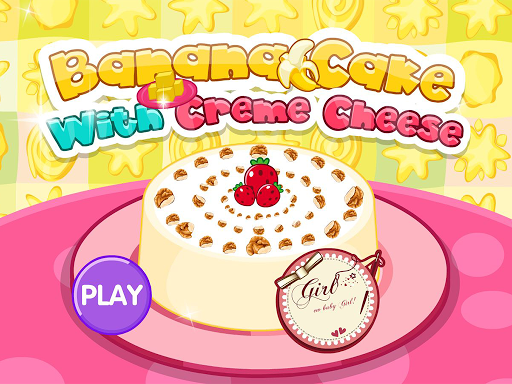 Banana cake with creme cheese