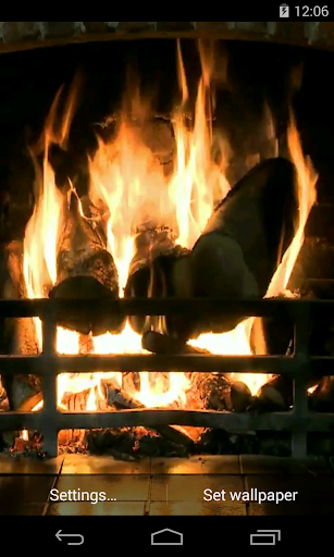Fireplace Video Live Wallpaper
