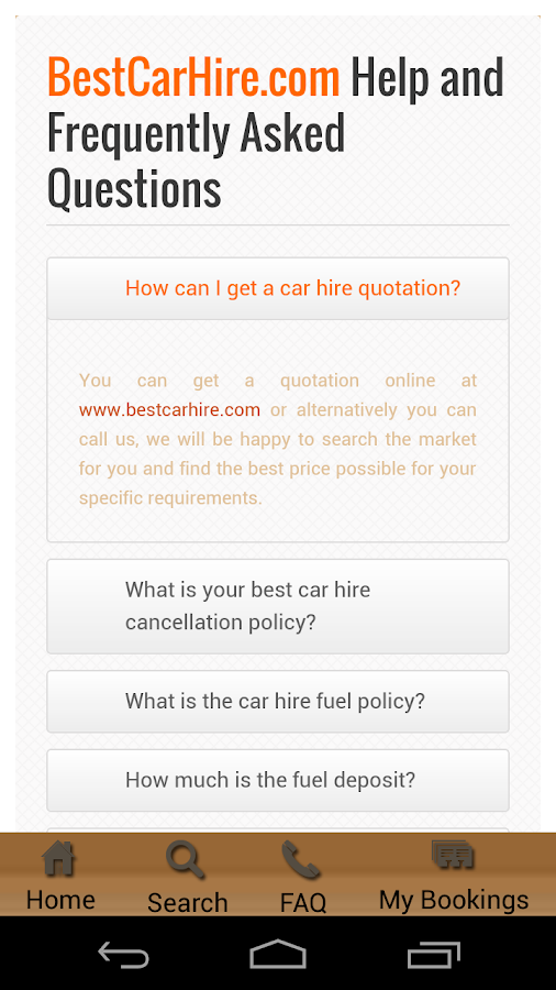 Best Car Hire- screenshot