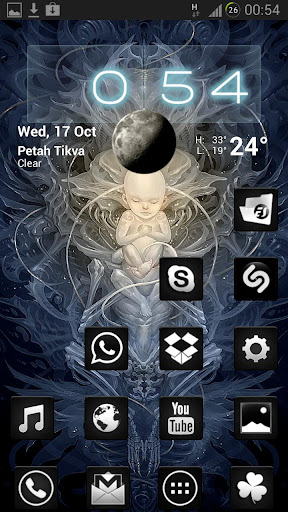 Black and White GO NOVA theme v2