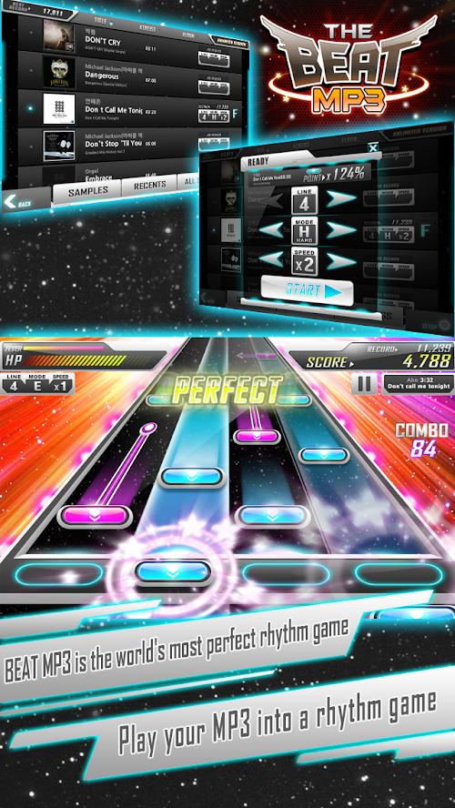 Screenshot 1 BEAT MP3 - Rhythm Game 1.5.7 APK MOD