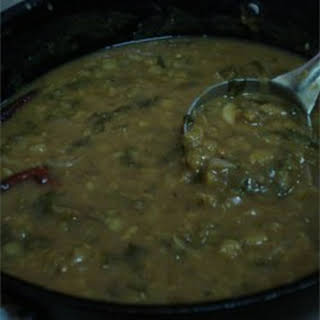 Aaku Pappu (Dal with Greens).