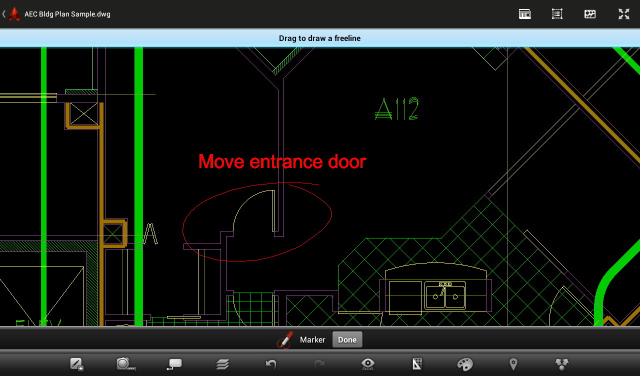 Android AutoCAD 360 Resimler