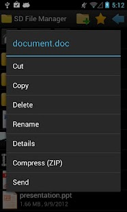 SD File Manager - screenshot thumbnail