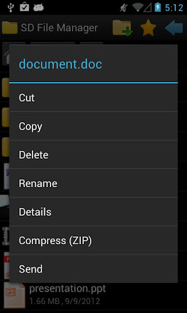 SD File Manager 1.0.9 screenshot 34454