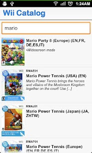Wii Games Catalog - screenshot thumbnail