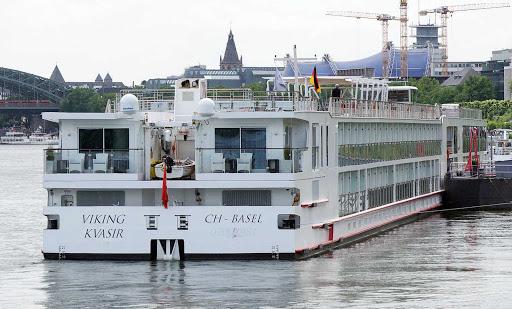 Viking-Kvasir-Cologne2 - The river cruise ship Viking Kvasir in Cologne, Germany.