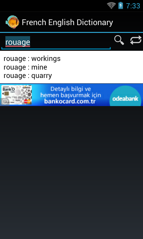 English French Dictionary - screenshot