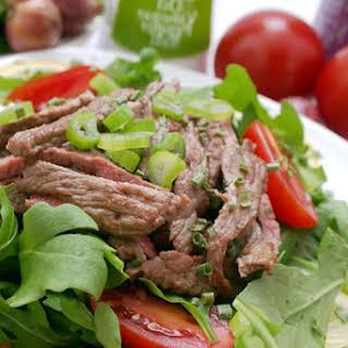 Taco Steak Salad w/ Ginger Lime Dressing.