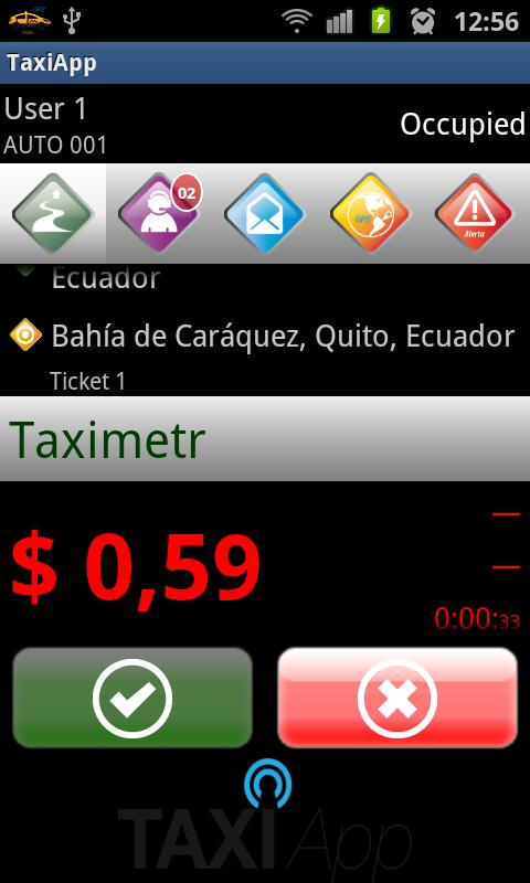 TaxiApp- screenshot