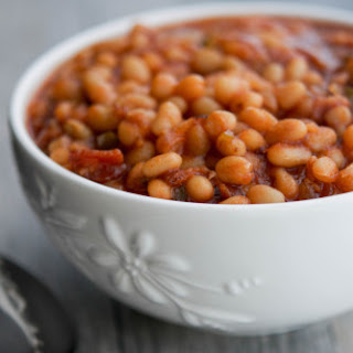 Stovetop Maple Brown Sugar Baked Beans #SundaySupper