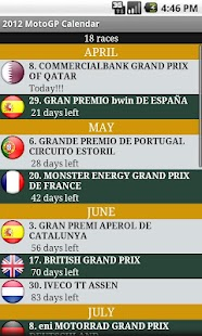 2014 MotoGP Calendar - screenshot thumbnail