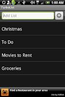 Screenshot of TurboList