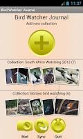 Screenshot of Bird Watching Journal