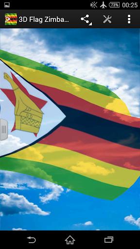 3D Flag Zimbabwe LWP