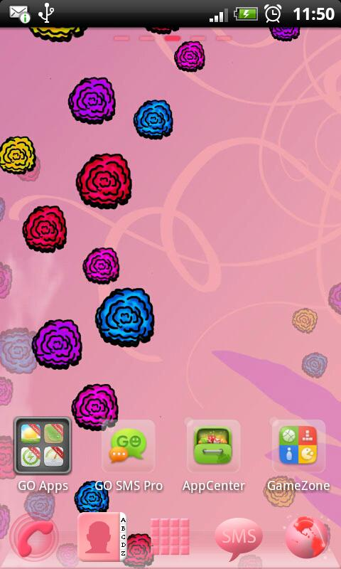 GO Launcher EX Theme Flowers- screenshot