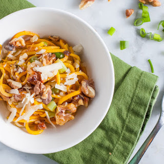 Butternut Squash Noodles with Walnuts