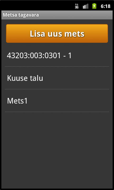 Metsa tagavara- screenshot