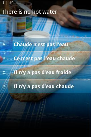 French Quiz- screenshot