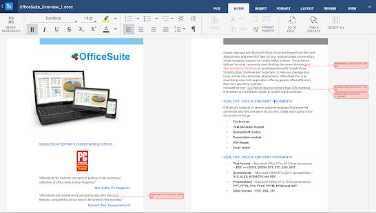 OfficeSuite 8 + PDF Converter - screenshot thumbnail