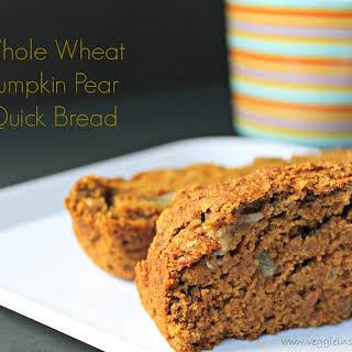 Whole Wheat Pumpkin Pear Quick Bread.