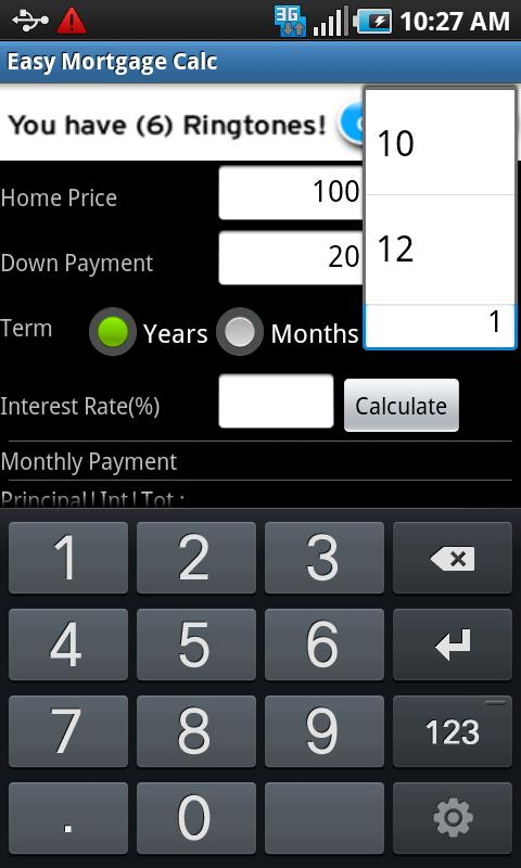 Easy Mortgage Calc- screenshot