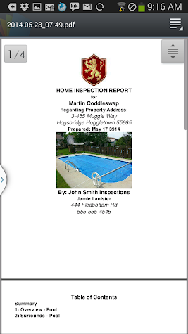 Pool & Spa Reporter Pro Screenshot