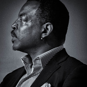 LeVar Burton.  Actor known for his performances on Star Trek, Roots and Reading Rainbow by Hans Watson - People Portraits of Men (  )