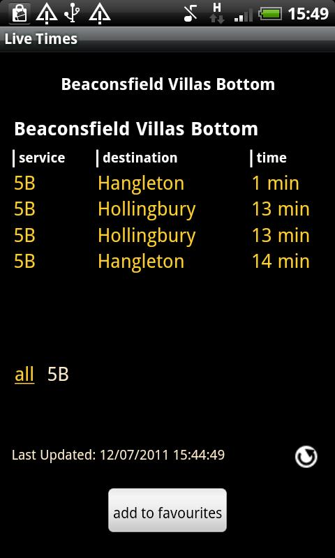 Brighton & Hove Buses Live- screenshot