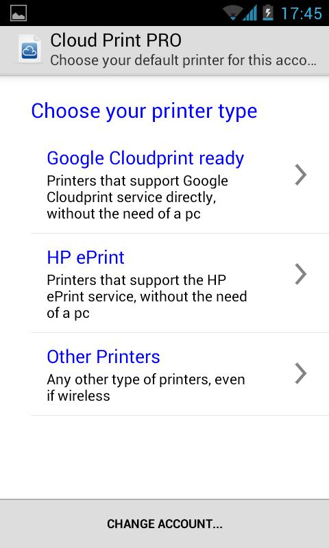 Cloud Print plus: captura de pantalla