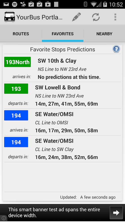 YourBus Portland Streetcar - screenshot
