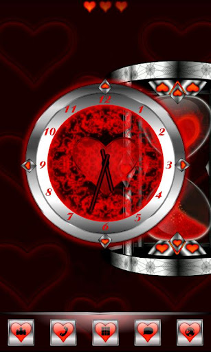 Red Valentine Clock