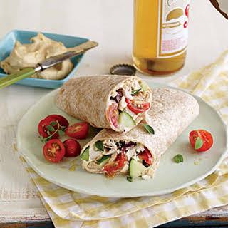 Greek-Style Chicken Wraps.