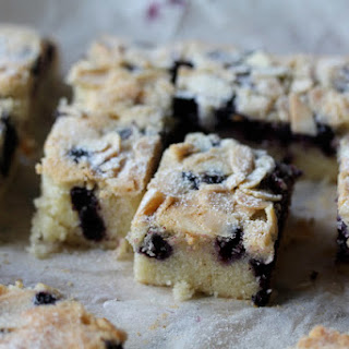 Giant Financier with Blueberries and Almonds