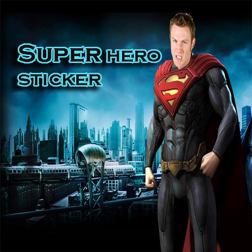 超級英雄貼紙相機 攝影 LOGO-玩APPs