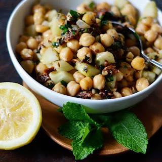 Warm Chickpea Salad with Cumin & Garlic.
