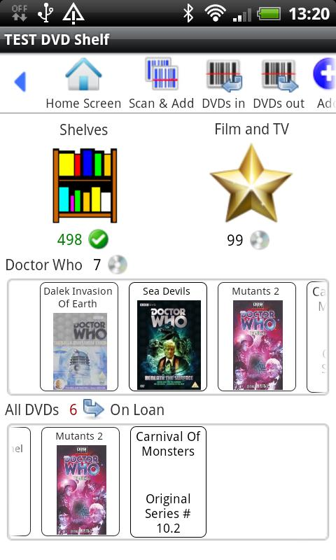 DVD Shelf - screenshot