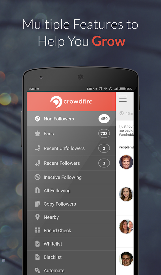 Crowdfire for Instagram growth - screenshot