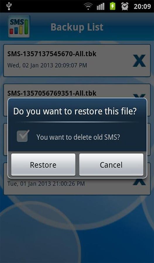 Manage SMS- screenshot