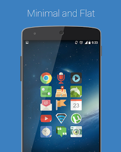 Minimal APEX NOVA KITKAT THEME - screenshot