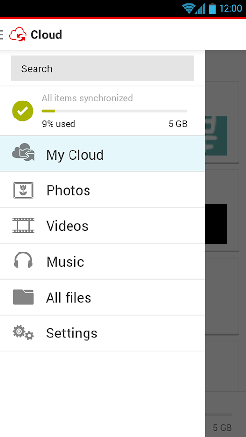 Vodafone Cloud- screenshot