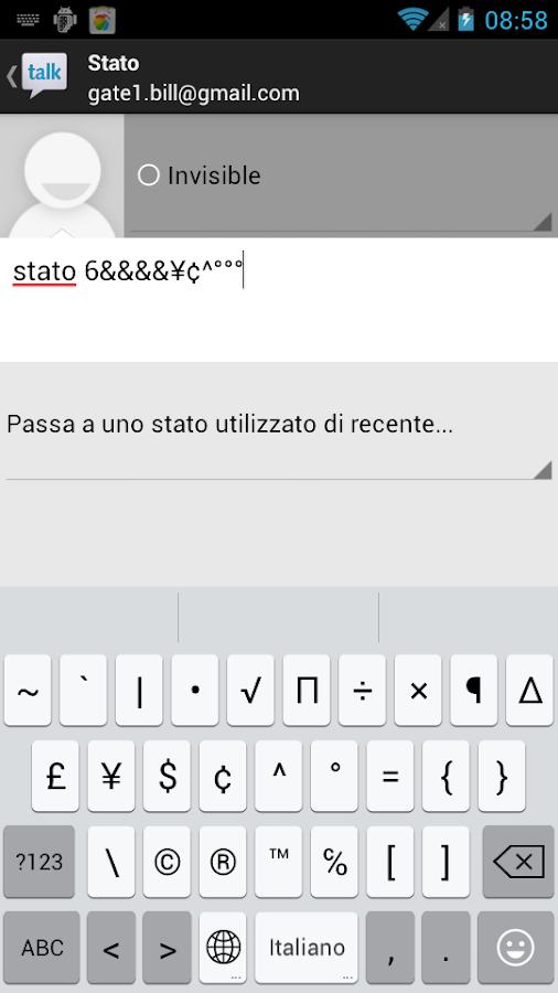 Italian Dict for KK Keyboard - screenshot