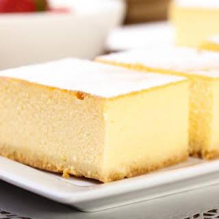 Diabetic No-Bake Caramel Cheesecake Bars.