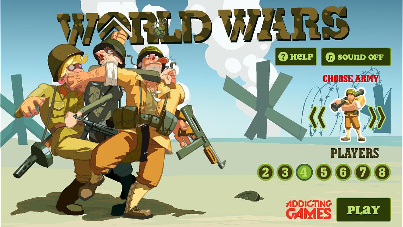 Fun addicting game apps - World Wars Screenshot
