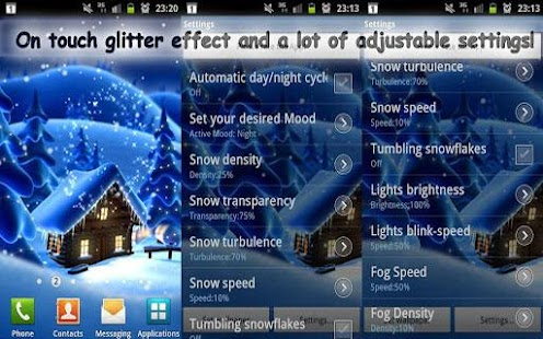 Winter Snow Live Wallpaper LWP - screenshot thumbnail